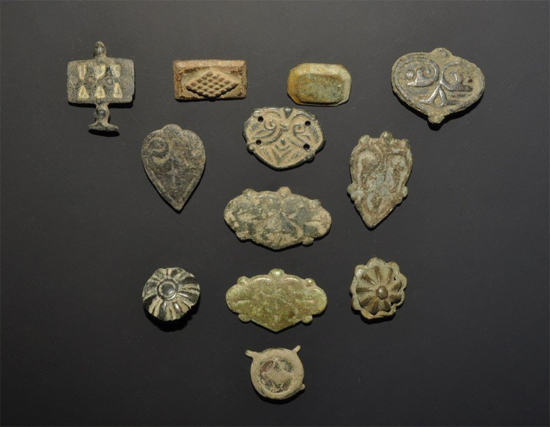 Medieval Bronze Fitting Group