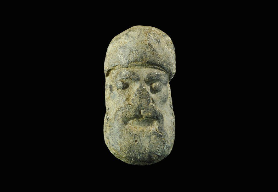 Medieval Lead Face Trade Weight