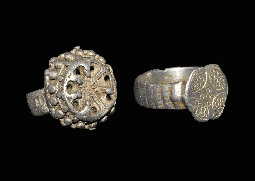Medieval Silver Ring Group