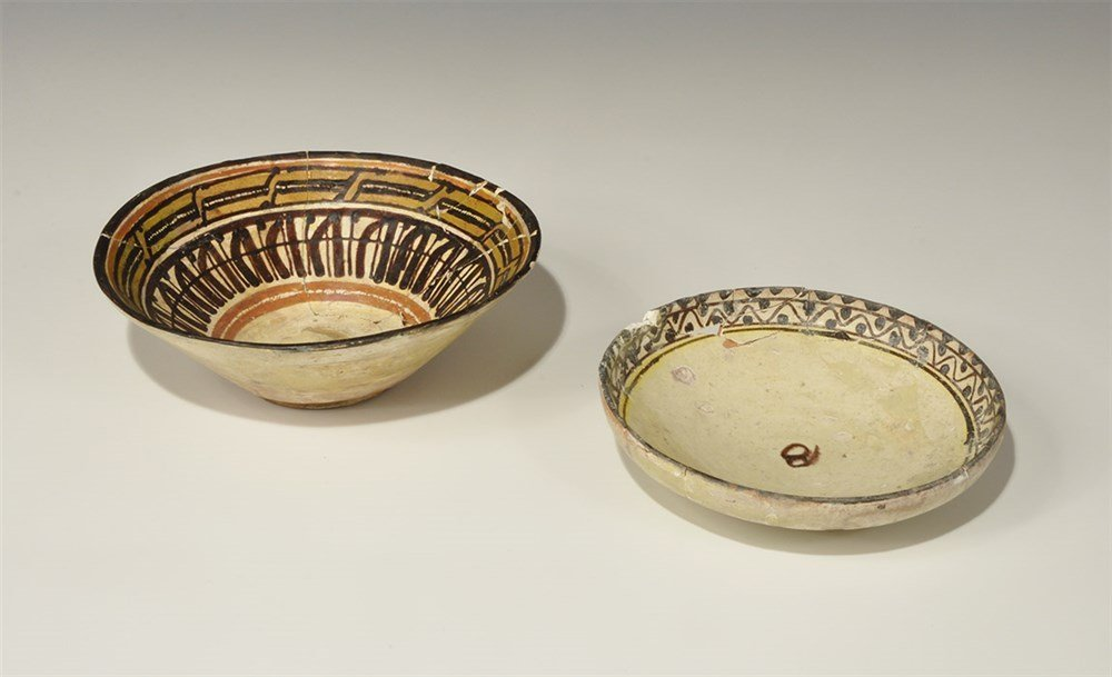Islamic Ceramic Painted Bowl Group