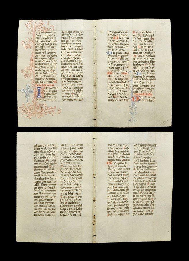 Medieval Vellum Brevarium Manuscript Leaf