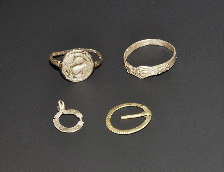 Medieval Silver Ring and Ring-Brooch Group