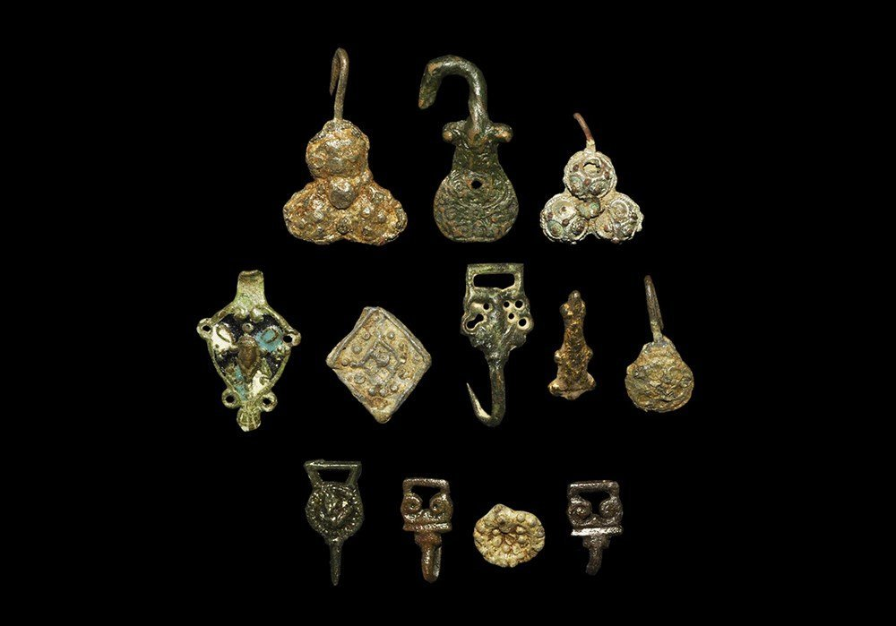 Post Medieval Clothes Fastener Group