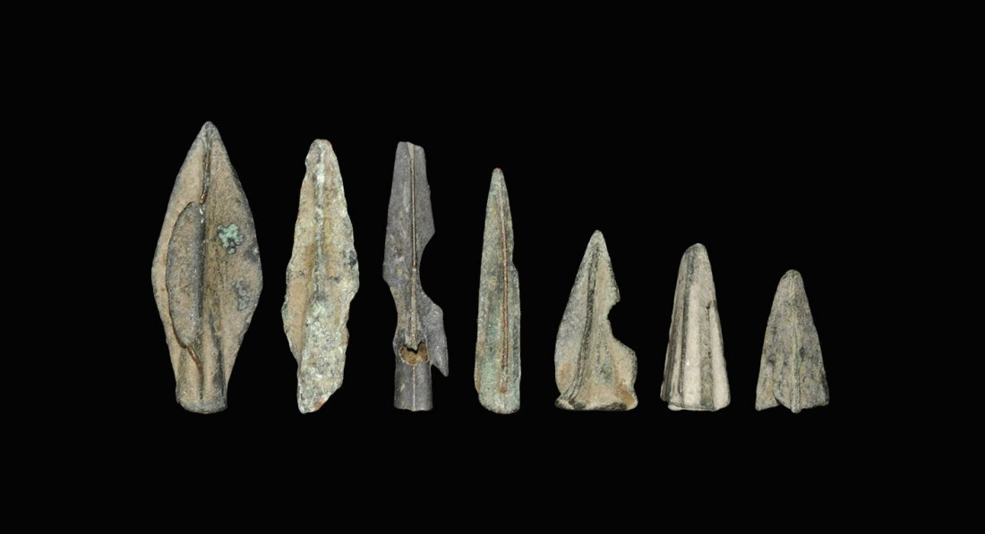 Greek Bronze Arrowhead Group