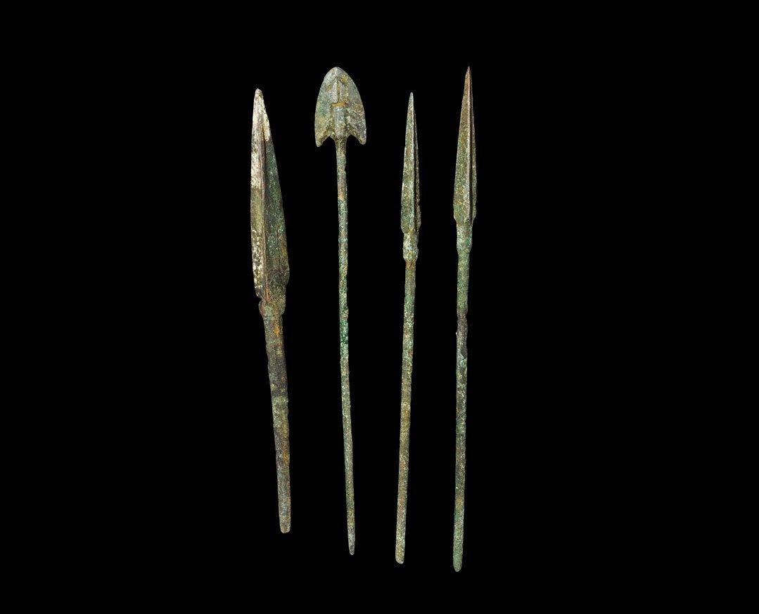 Near Eastern Luristan Long-Tanged Arrowhead Collection