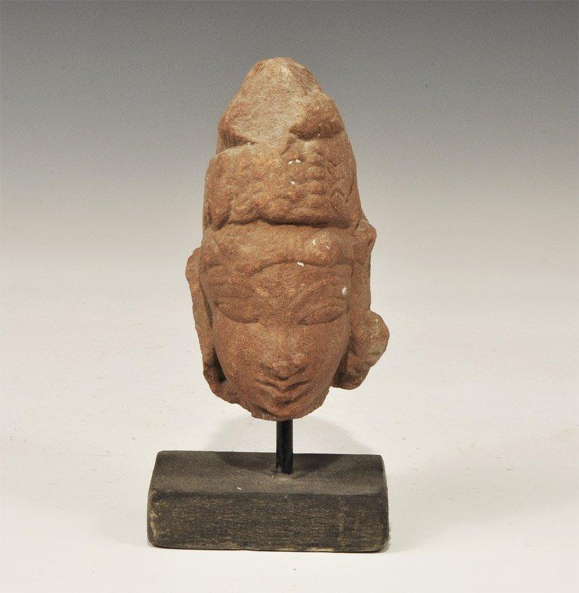 Indian Gupta Style Stone Head
