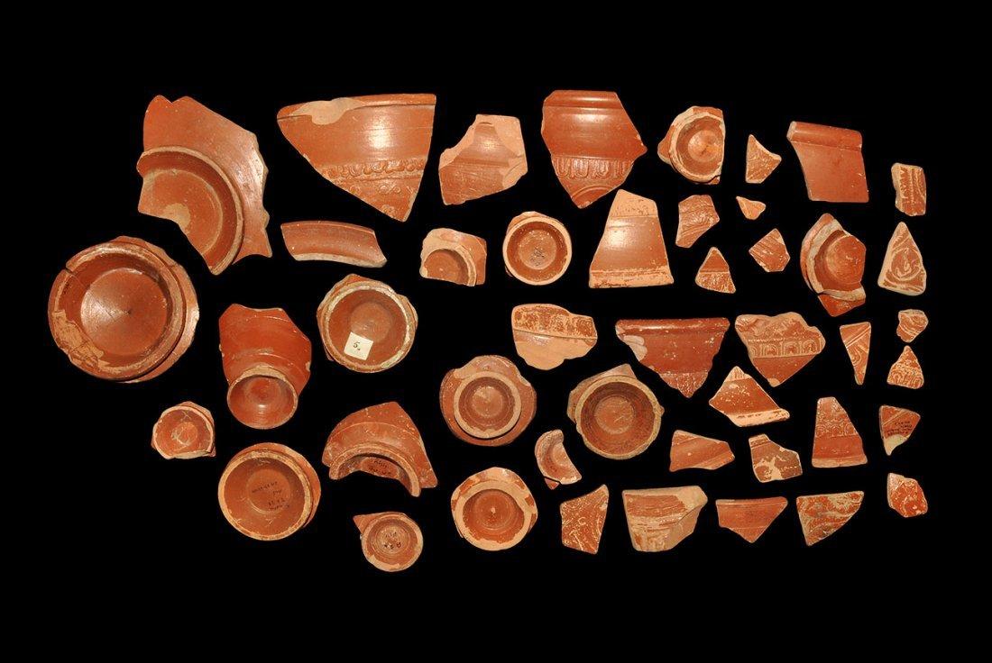 Roman Ceramic Samian Ware Fragment Group