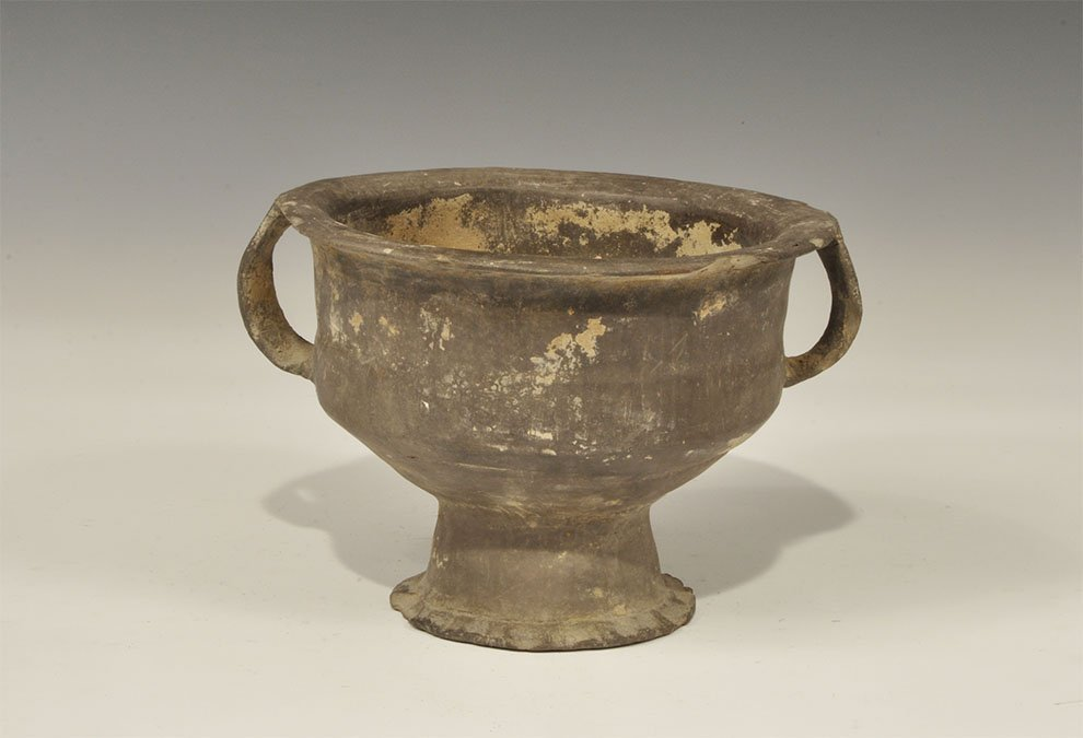 Chinese Ceramic Two-Handled Vessel