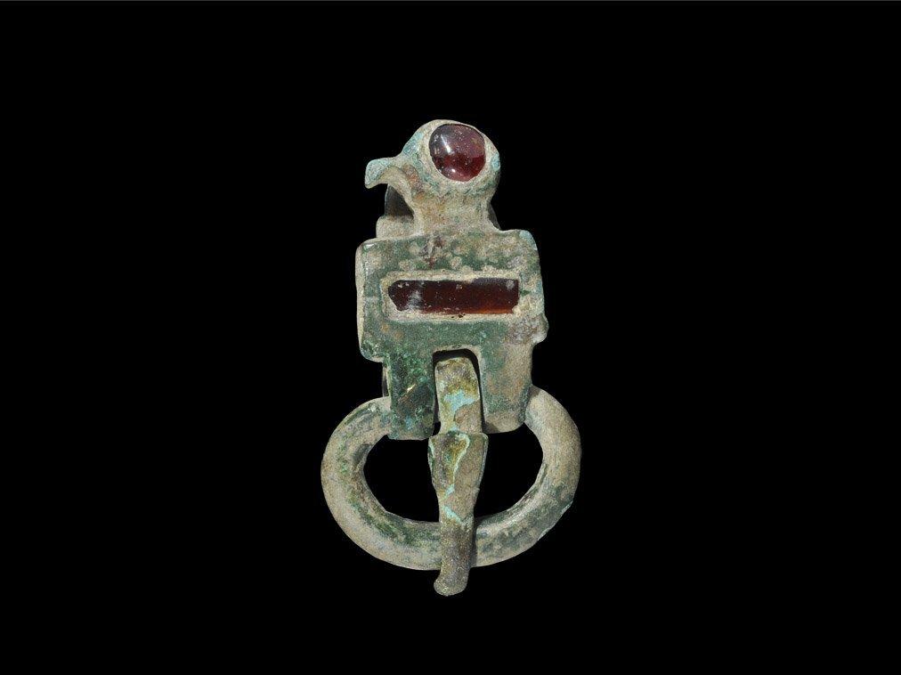 Saxon Period Ostrogothic Bronze Bird Buckle with