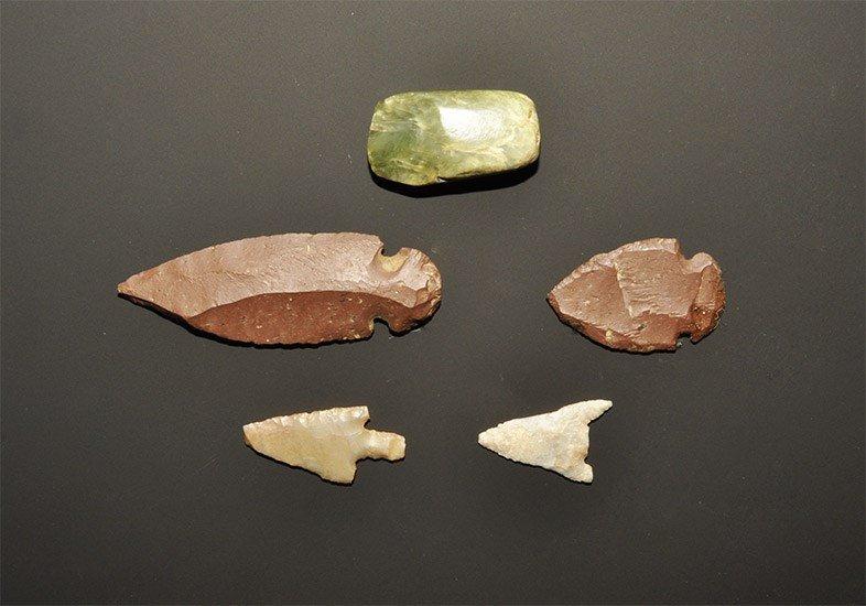 Stone Age Stone Arrowhead Group