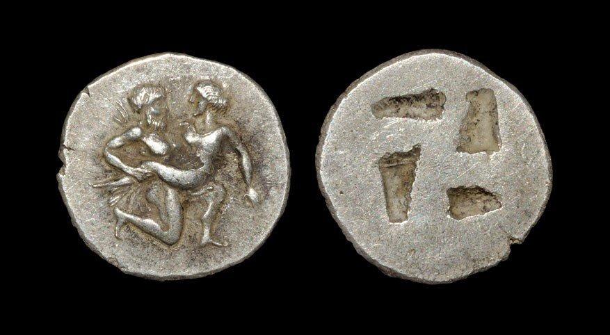 Greek Thasos - Satyr Drachm