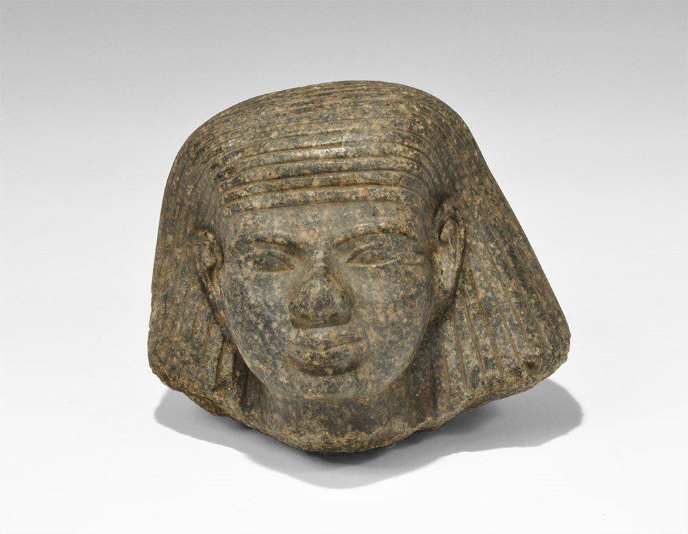 Egyptian Stone Statue Head
