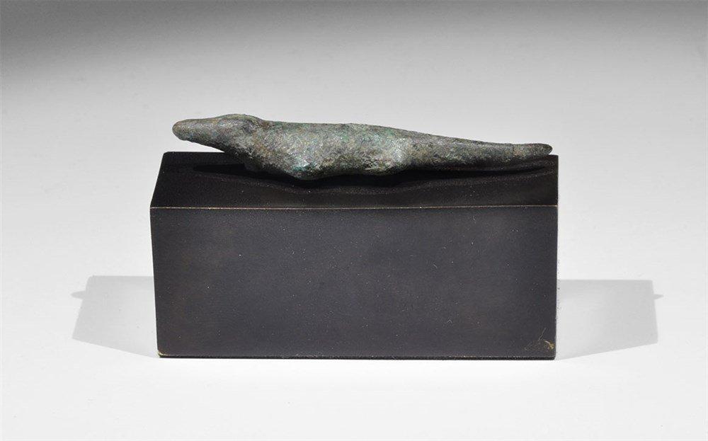 Egyptian Bronze Sobek Statuette