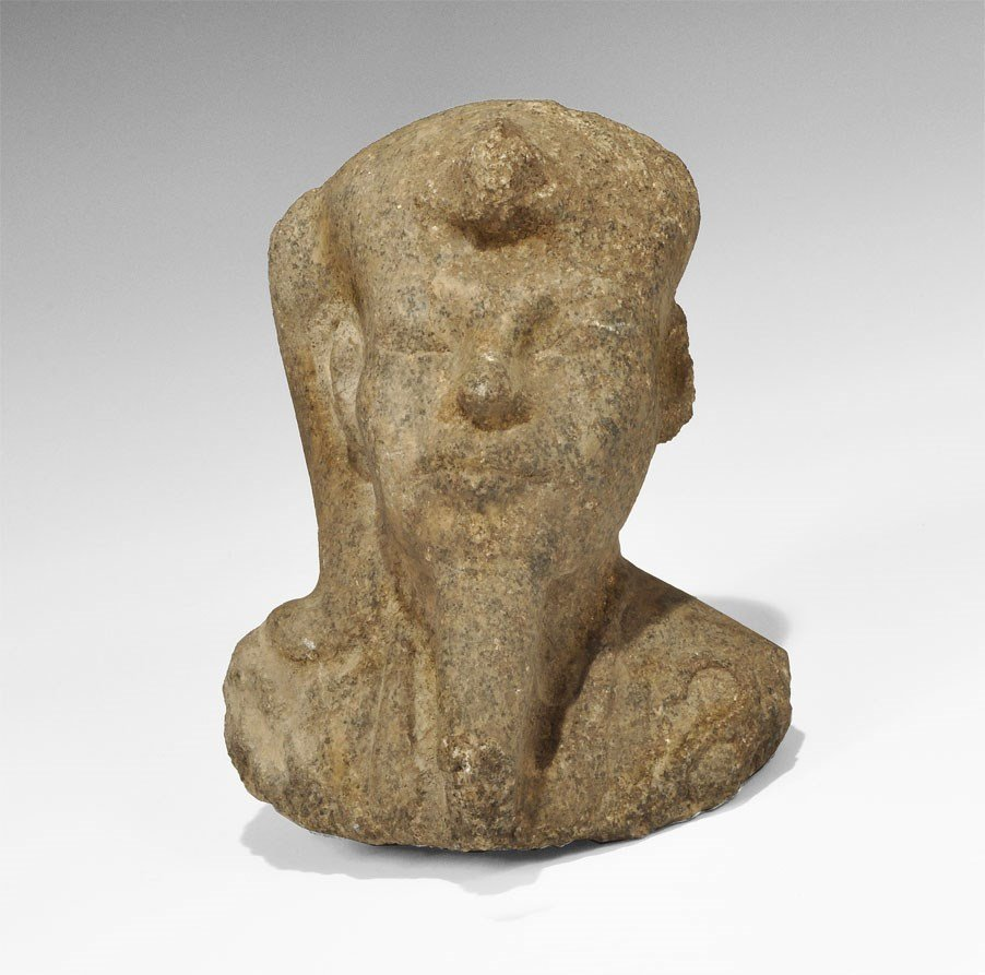 Egyptian Granite Royal Statue Head