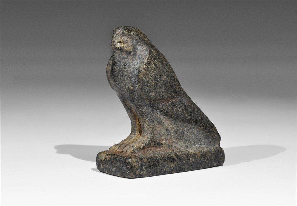 Egyptian Stone Horus Statuette