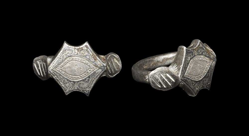 Islamic Silver and Niello Inlaid Ring