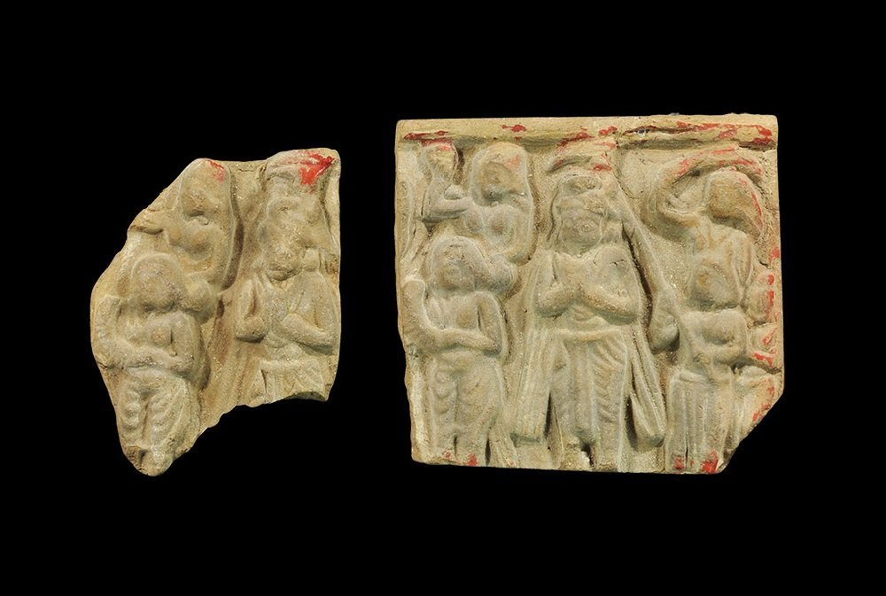 Afghan Clay Figural Plaque Group