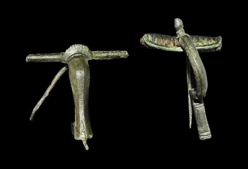 Roman Bronze Bow Brooch Group