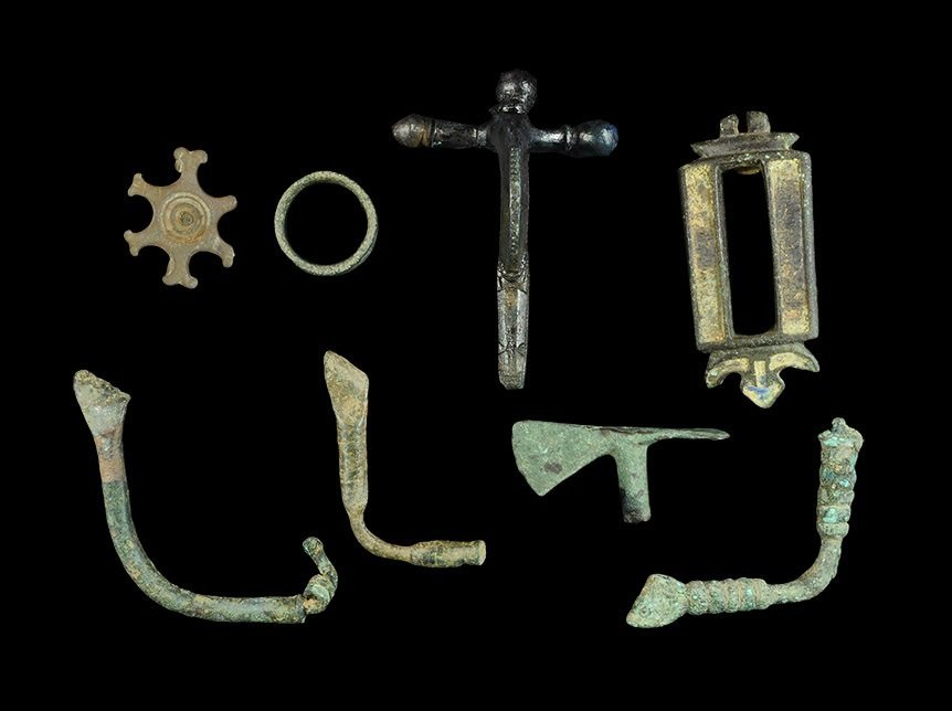 Roman Bronze Brooches and Other Items Group