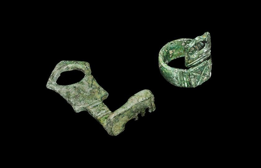 Roman Bronze Key Group