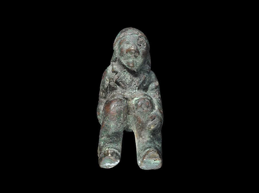 Post Medieval Bronze Seated Figure