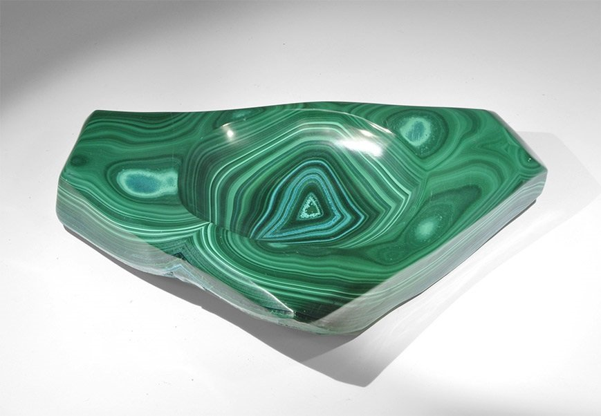 Geological Malachite Tray