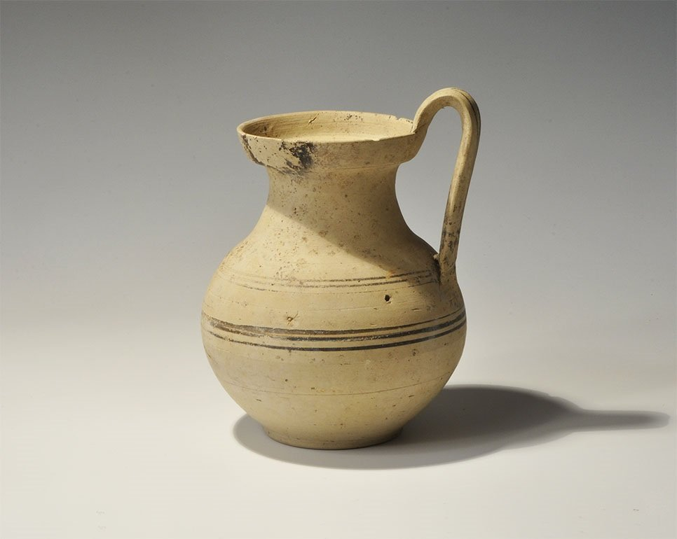 Greek Daunian Ceramic Painted Jug
