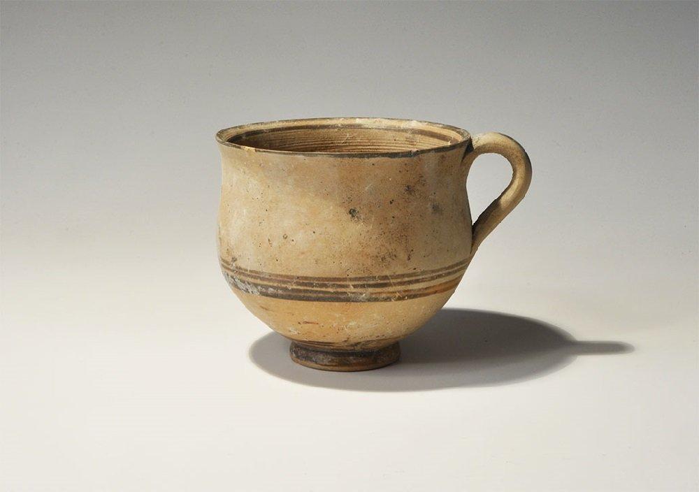 Greek Daunian Ceramic Painted Dipper Cup