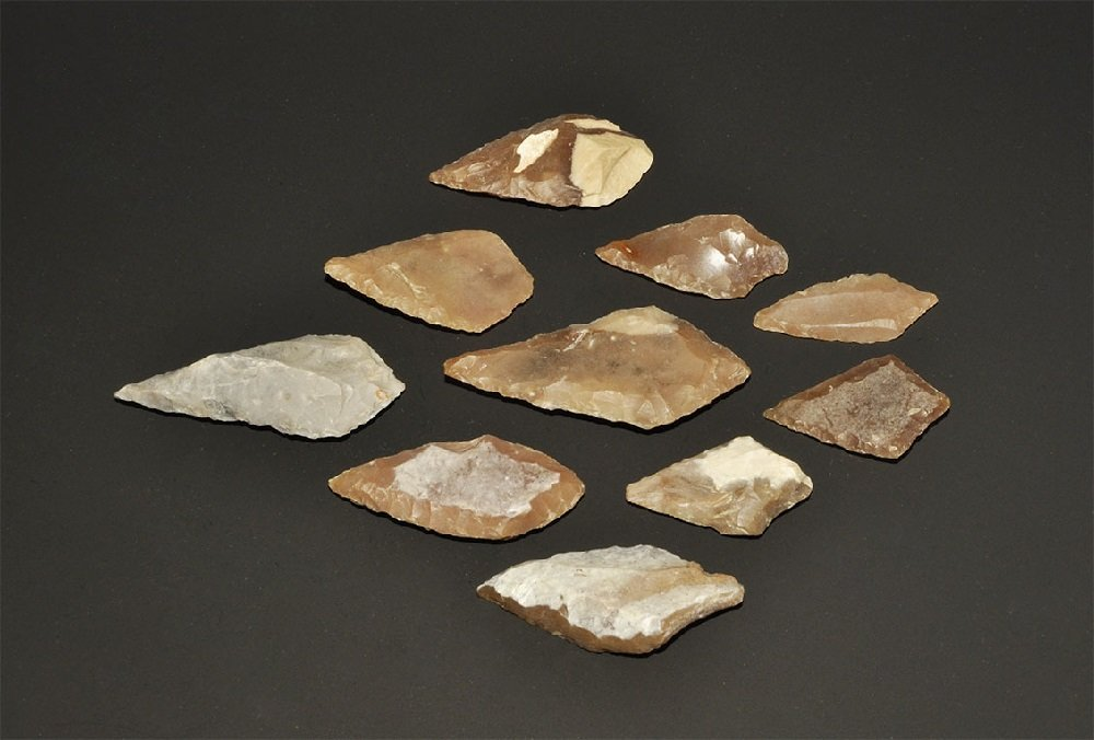 Stone Age Diamond Leaf-Shaped Arrowhead Group