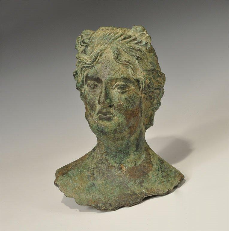 Roman Style Bronze Mercury Bust