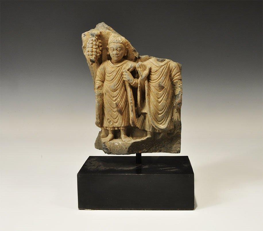 Gandharan Schist Figural Frieze Fragment