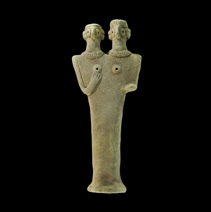 Near Eastern Syro-Hittte Ceramic Fertility Figure