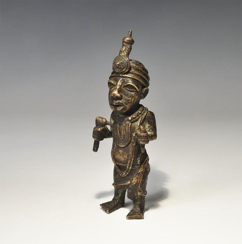 African Bronze Craftsman Statue