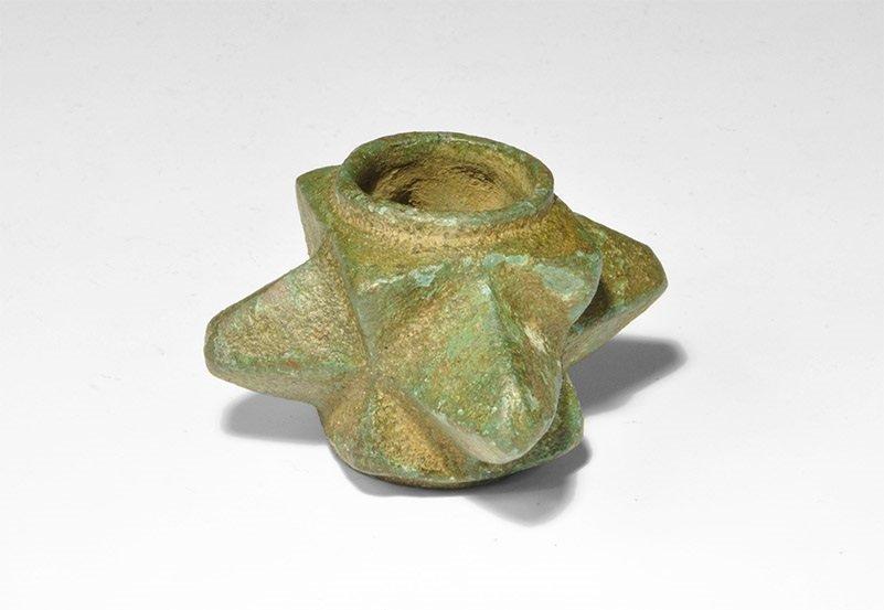 Medieval Bronze 'Morning Star' Mace Head