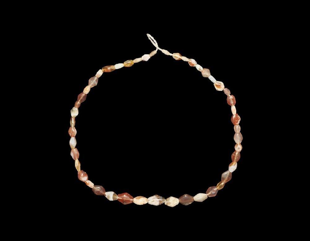 Near Eastern Bactrian Agate Bead String