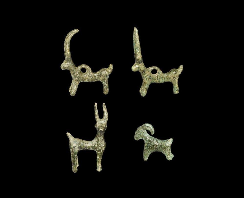 Roman Bronze Animal Pendant Group