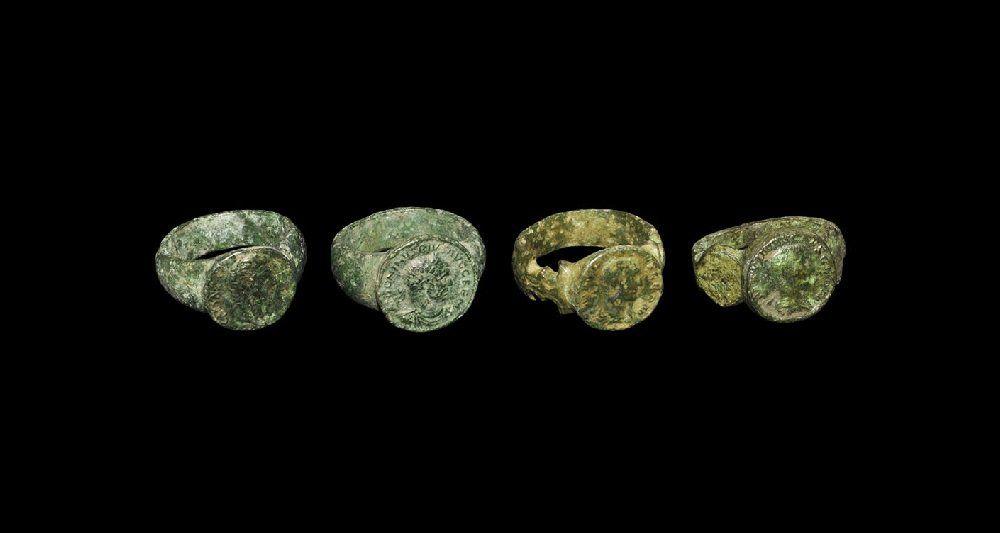 Roman Style Bronze Emperor Finger Ring Group