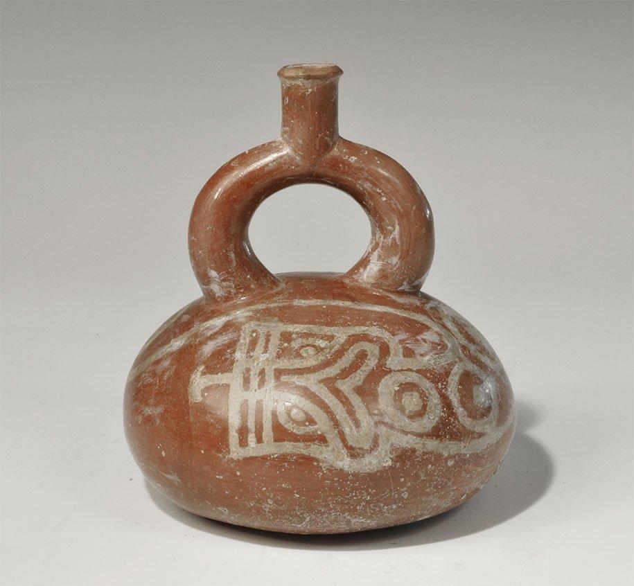 Pre-Columbian Ceramic Stirrup Vessel