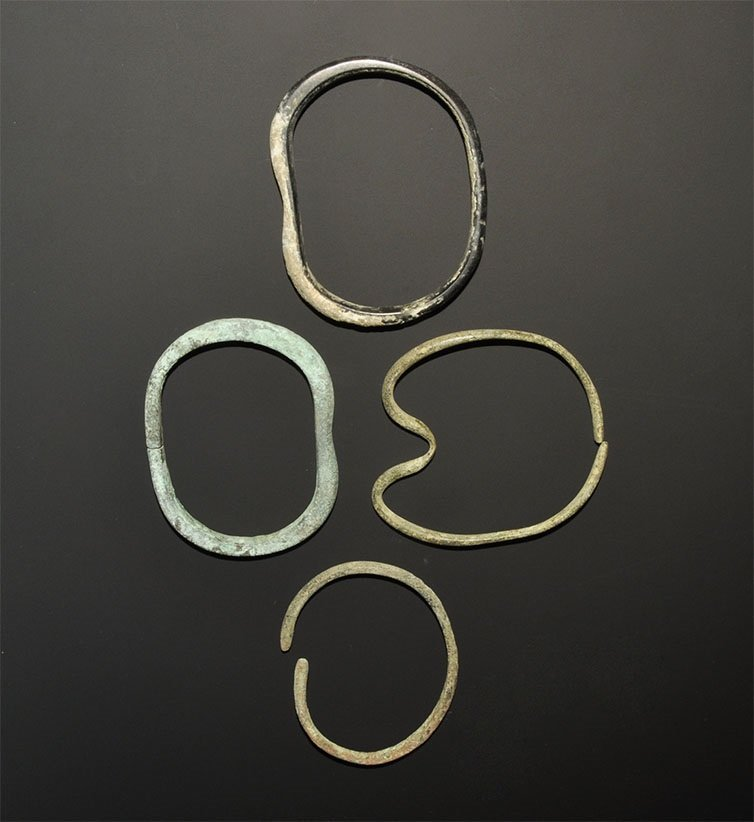 Bronze Age Bronze Bangle and Bracelet Group