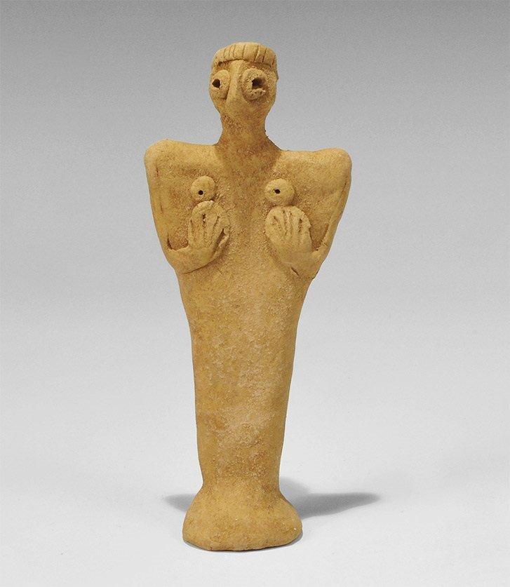Near Eastern Ceramic Syro-Hittite Fertility Figure