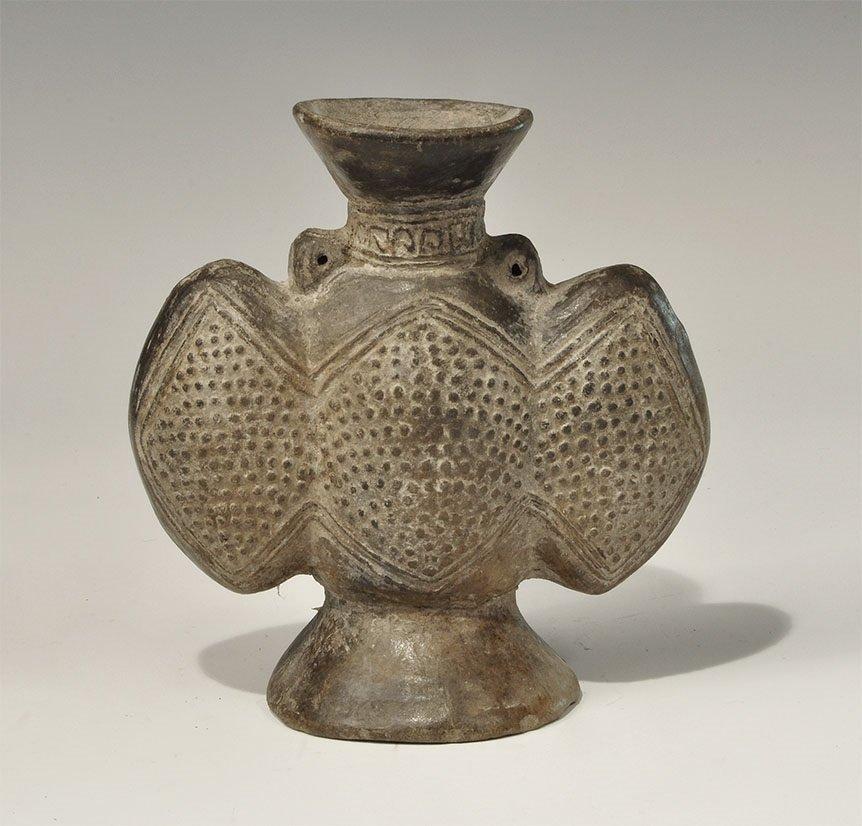 Pre-Columbian Ceramic Three-Chambered Vessel