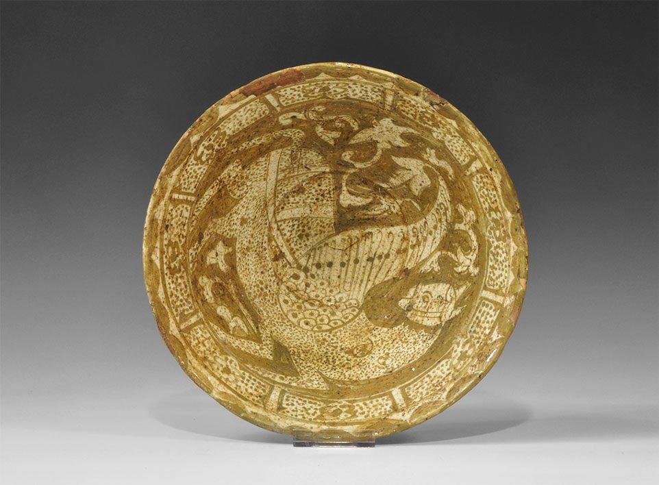 Islamic Khorasan Sphinx Ceramic Bowl