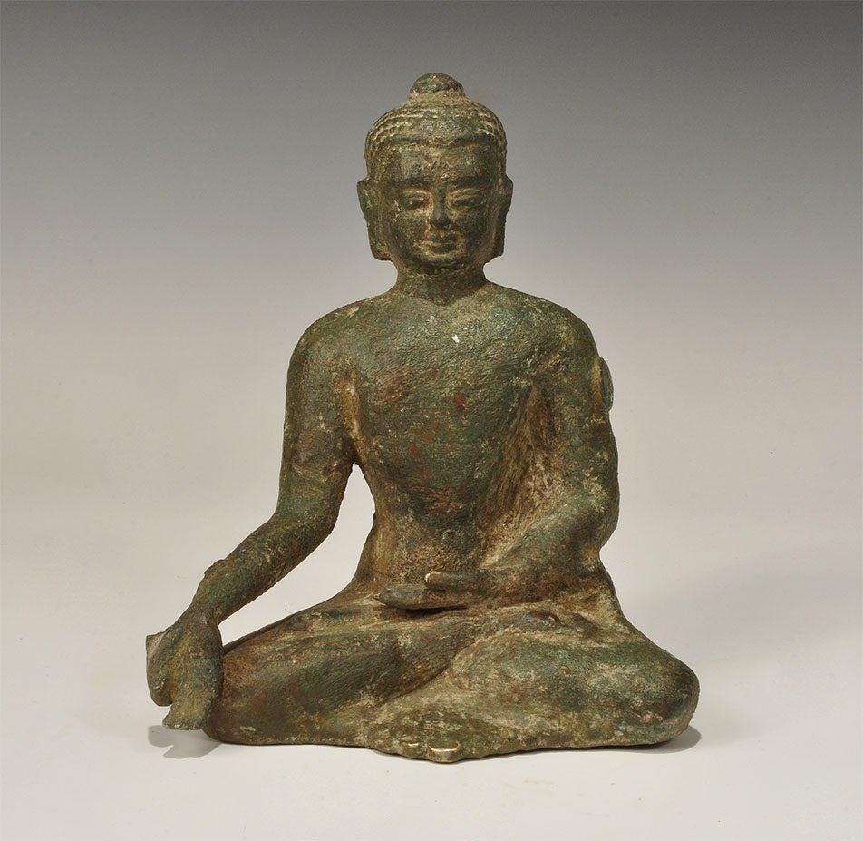 Indo-Greek Bronze Buddha Statuette