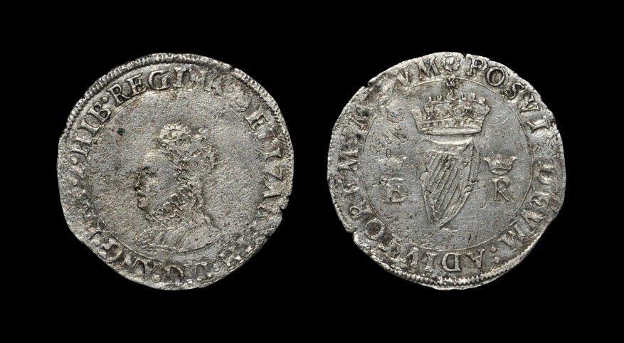 Irish Tudor Hammered Coins - Elizabeth I - First