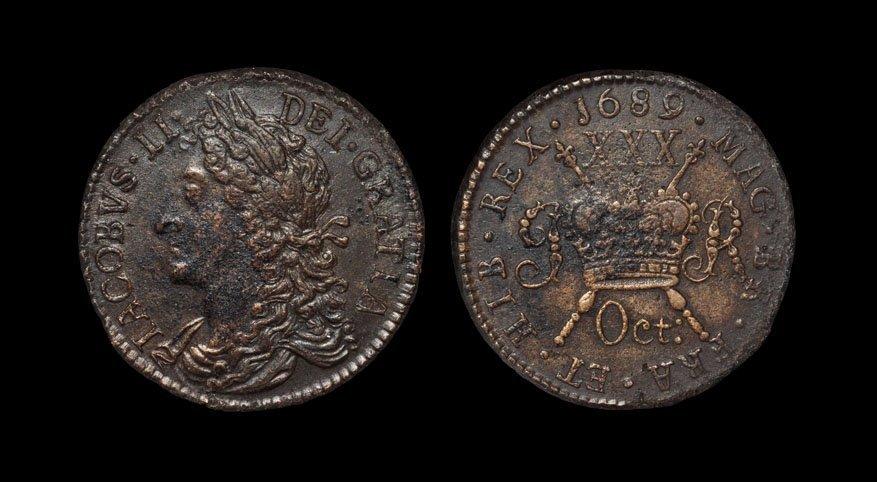 Irish Milled Coins - James II - October 1689 Civil War