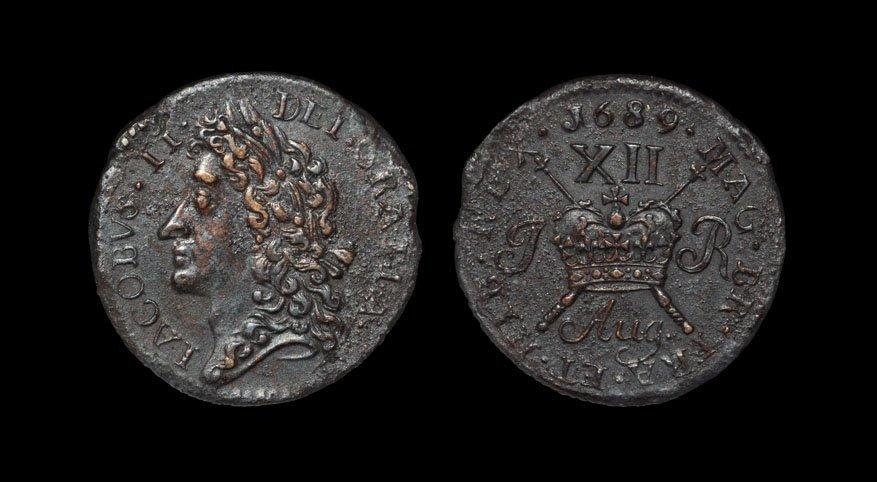 Irish Milled Coins - James II - August 1689 Civil War -