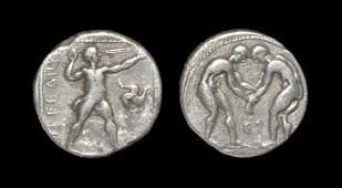 Ancient Greek Coins  Aspendus  Pamphylia  Wrestlers