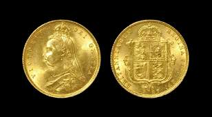 English Milled Coins  Victoria  1887  Gold Proof