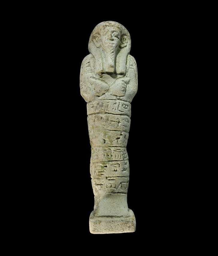 Egyptian Glazed Composition Hieroglyphic Shabti