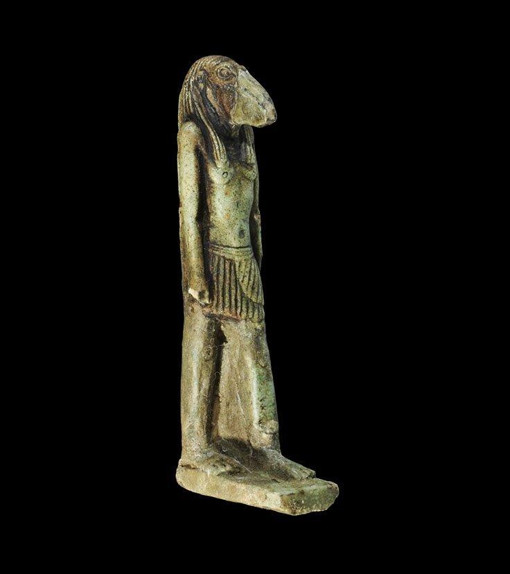 Egyptian Glazed Composition Thoth Amulet